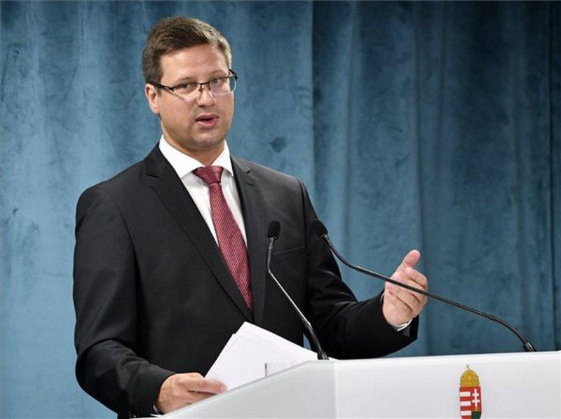 Gulyás Gergely, a Miniszterelnökséget vezető miniszter a Kormányinfó sajtótájékoztatón a Miniszterelnökségen 2020. július 30-án. MTI/Máthé Zoltán