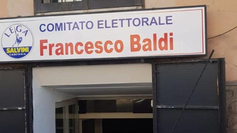AVERSA, DISTRUTTO COMITATO ELETTORALE | È quello di Francesco Baldi candidato Lega