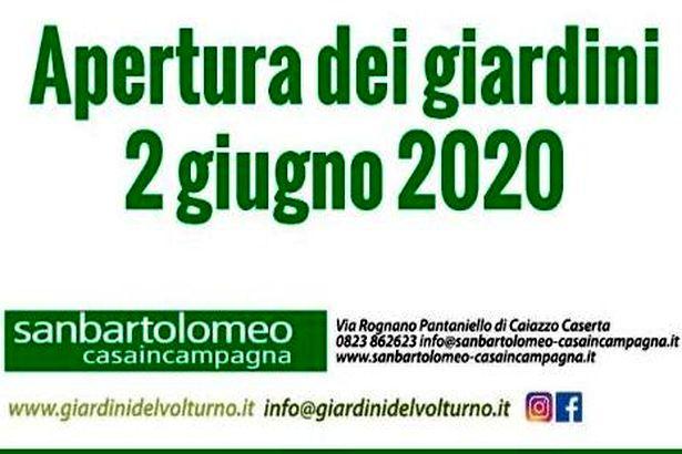 Caiazzo. 'Giardini del Volturno' aperti a San Bartolomeo-Pantaniello da martedì 2 giugno