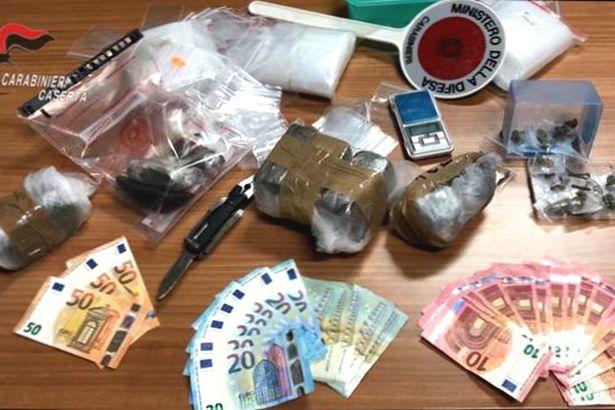 S.Felice a Cancello. Beccato con droga, soldi e arnesi 'da spaccio': arrestato 38enne