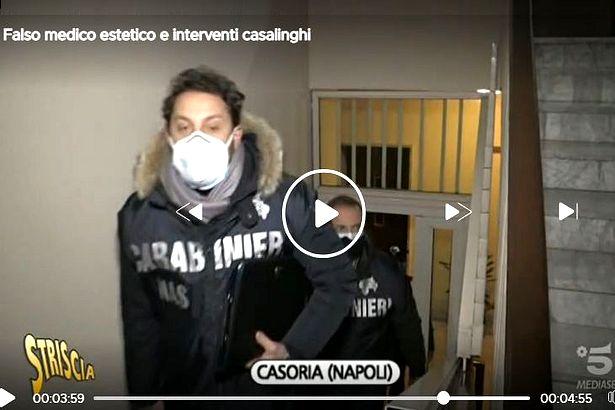 Casoria. Falso medico estetico scoperto da Luca Abete ('Striscia') e denunciato dai Carabinieri
