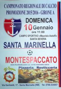 Santa Marinella calcio vs. Montespaccato