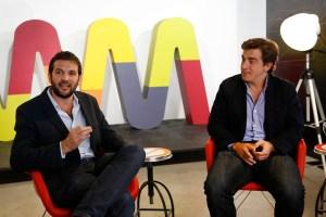 Andrés Saborido, gerente de país de Wayra, y Federico Procaccini, gerente general de MercadoLIbre Argentina