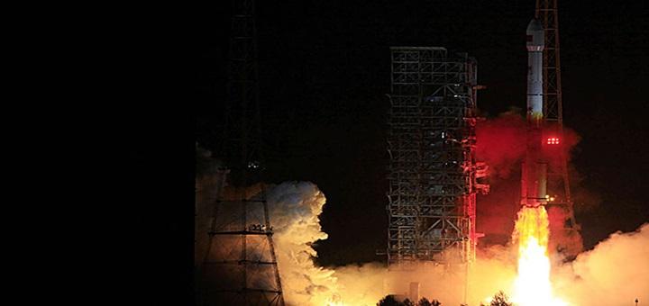 Lanzamiento del satélite Túpac Katari desde Xichang, China. Imagen: ABE.