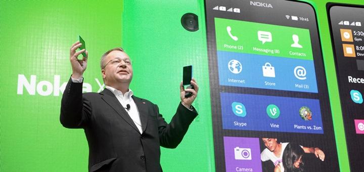 Stephen Elop, vicepresidente ejecutivo de Nokia Devices & Services, durante la presentación de la serie Nokia X. Imagen: Nokia.