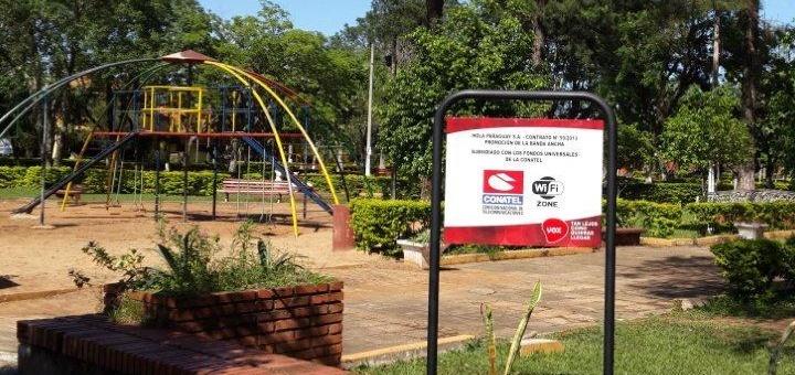 Plaza con Wi-Fi gratuito. Imagen: Conatel