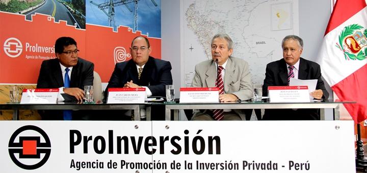 Adjudicación de los proyectos en en Apurímac, Ayacucho, Huancavelica y Lambayeque. Imagen: ProInversión