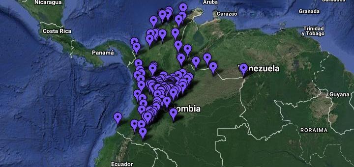 Puntos Wi-Fi instalados por el Mintic en Colombia. Imagen: Mintic.