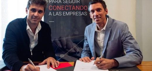 Damián Maldini, gerente General de Iplan y Nicolás Meligrana, Head of Telco Partnerships de Google. Imagen: Iplan