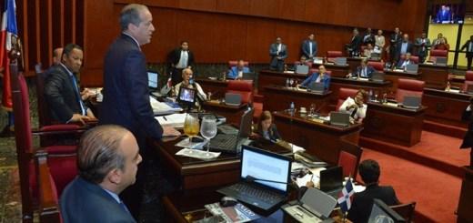 Senado Dominicano durante la aprobación del proyecto. Imagen: Senado de República Dominicana.