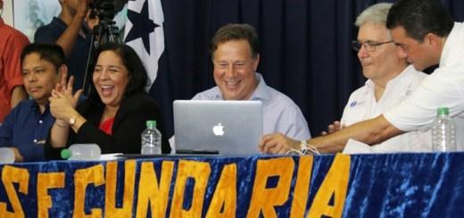 Juan Carlos Varela presenta Red Nacional de Internet. Imagen: Presidencia de Panamá.