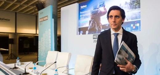 José María Álvarez Pallete en la presentación de resultados de Telefónica. Imagen: Telefónica