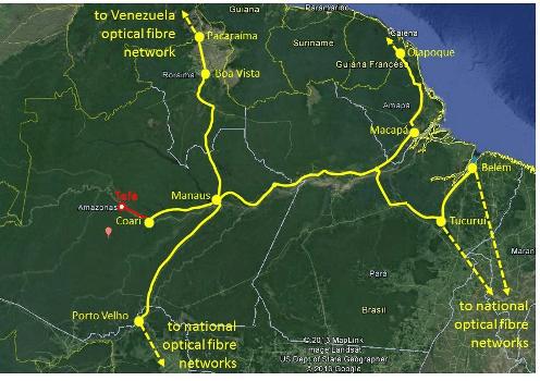 Mapa Cabo Fluvial da RNP