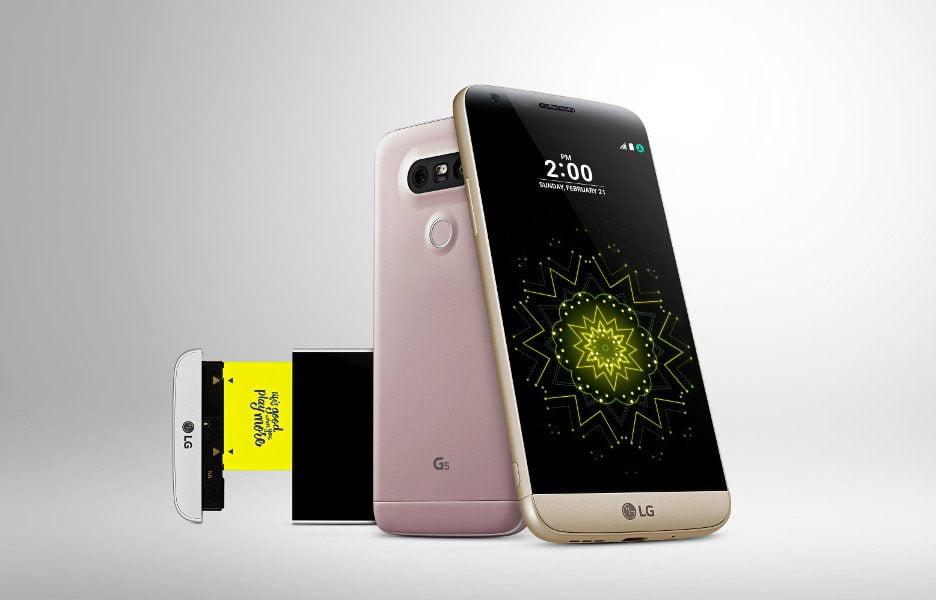 LG g5 smartphone módulo bateria