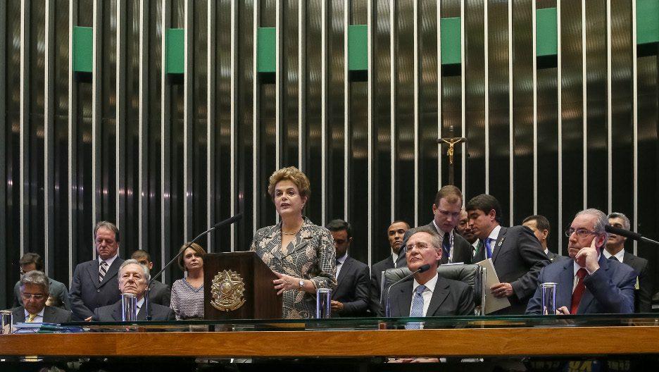 Presidenta Dilma Rousseff durante Sessão solene destinada a inaugurar a 2ª Sessão Legislativa Ordinária da 55ª Legislatura do Congresso Nacional. (Brasília - DF, 02/02/2016) Foto: Roberto Stuckert Filho/PR