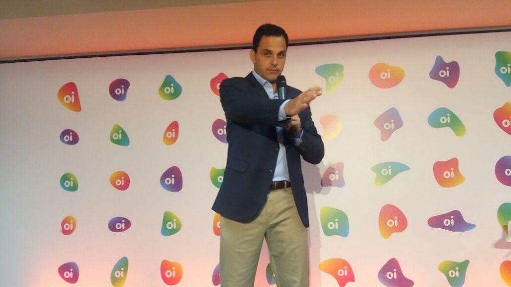 Bayard Gontijo, presidente da Oi, no lançamento nova marca Oi
