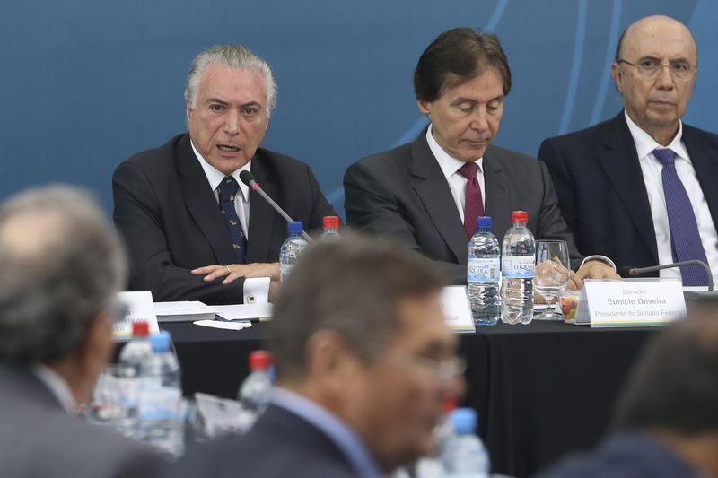 Brasília - O presidente Michel Temer durante a 46ª Reunião Plenária do Conselho de Desenvolvimento Econômico e Social - CDE (Antonio Cruz/Agência Brasil)