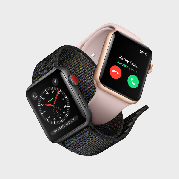 O novo AppleWatch, que se conecta a redes 4G.