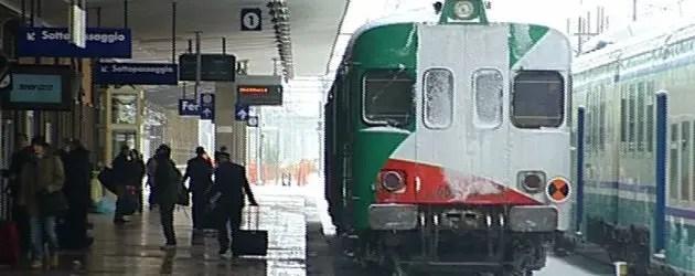 Neve, rimborsi ai pendolari dei treni