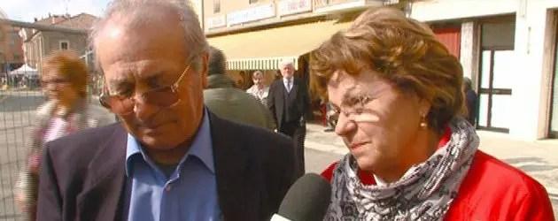I genitori di Nicola Cavicchi, vittima del terremoto