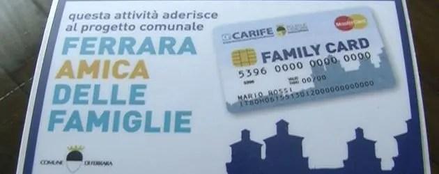 Family card per chi è in difficoltà