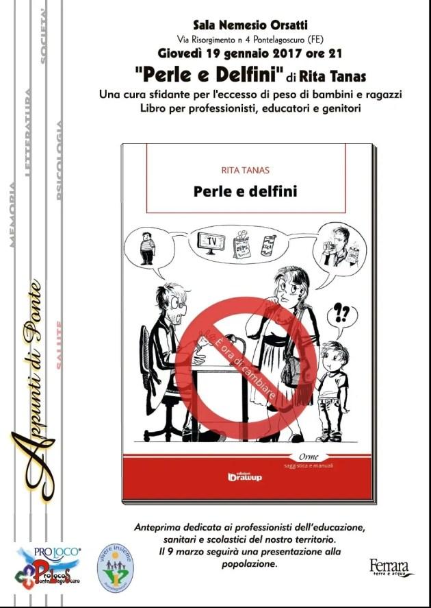 """Conferenza di Rita Tanas su """"Perle e Delfini: una cura sfidante per l'eccesso di peso di bambini e ragazzi a Pontelagoscuro."""