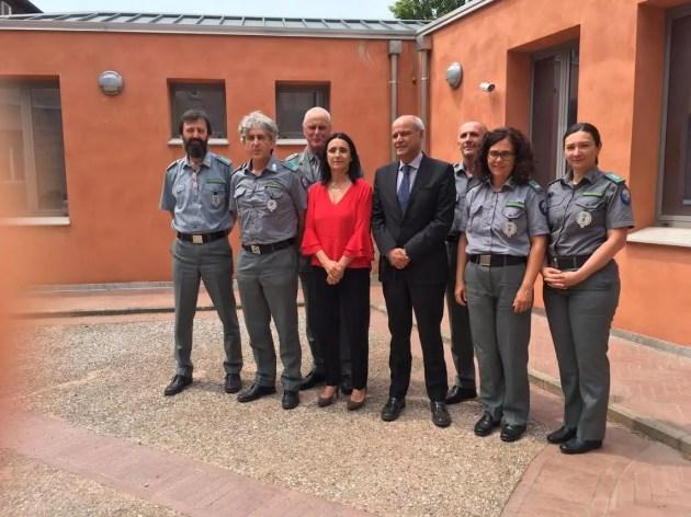Polizia di stato più vicina alla polizia provinciale, il questore in visita nella sede del corpo di C.so Isonzo