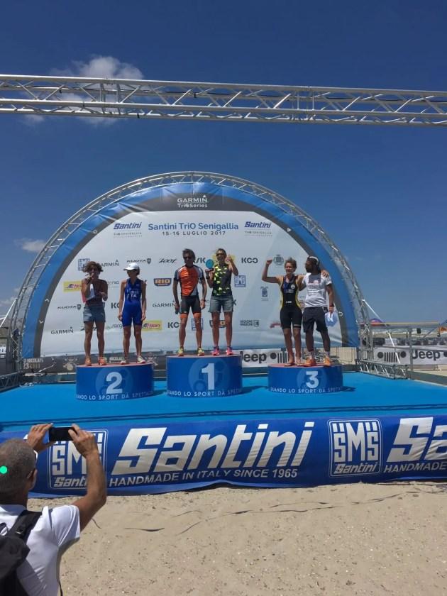 Triathlon: Senigallia, due podi di categoria per i cussini