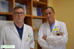 """Dott. Mirco Bartolomei Direttore dell'U.O. di Medicina Nucleare e Prof. Paolo Carcoforo Direttore dell'U.O. di """"Chirurgia 2"""""""