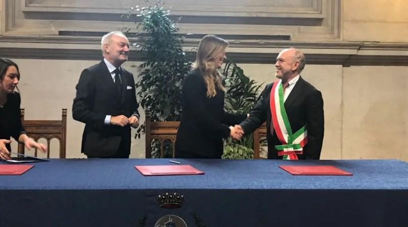 Tagliani a Brescia firma convenzione