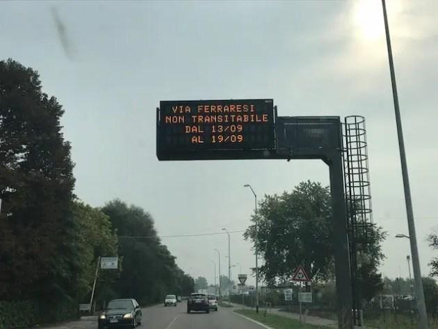 Viabilità, chiuso il viadotto di via Ferraresi fino al 19 settembre