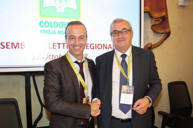 Coldiretti E-R, storico cambio della guardia: Mauro Tonello lascia dopo 20 anni di presidenza