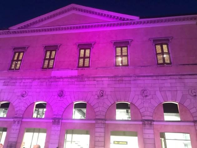 L'ottobre rosa colora la loggia di San Crispino