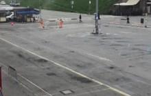 Piazza Travaglio chiusa per lavori