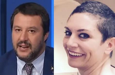 Salvini minaccia di querela Baraldi (che si scusa), dopo le offese via social