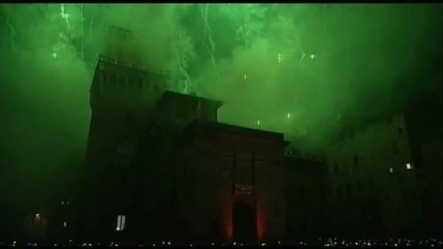 Capodanno a Ferrara e incendio del Castello Estense – VIDEO