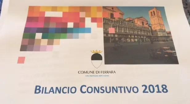 Il Comune di Ferrara presenta il Bilancio consuntivo 2018
