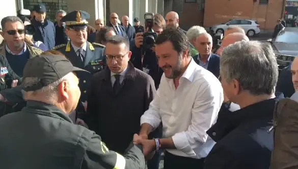 Salvini a Ferrara a sostegno di Alan Fabbri