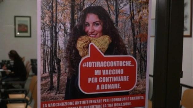 """Avis, appello ai donatori: """"Fate il vaccino antinfluenza"""" – INTERVISTE"""