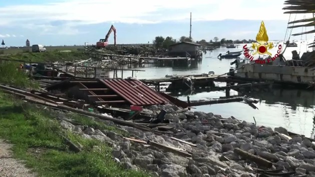Maltempo a Ferrara, allerta rossa prorogata: fiumi osservati speciali – VIDEO