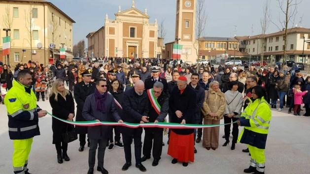 Terremoto, Sant'Agostino: riapre la chiesa. C'è la nuova piazza