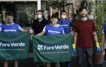Fare Verde: volontari ripuliscono dai graffiti Via Gobetti