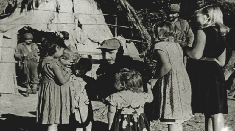 Los niños campesinos sintieron gran empatía con el líder revolucionario.