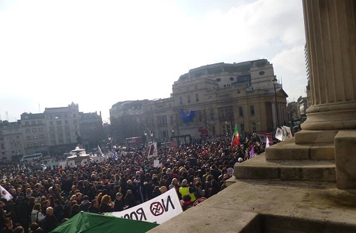 Solidarity Demonstration at Trafalgar Square, UK.