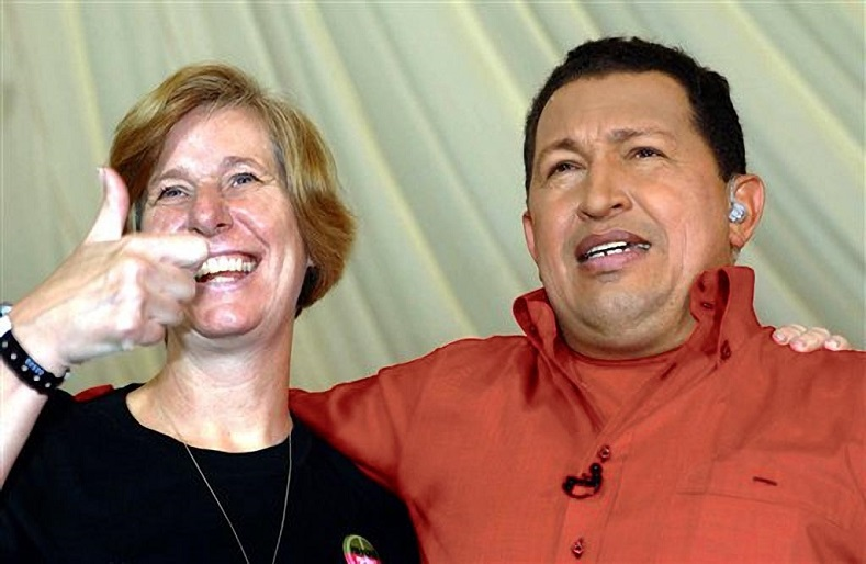 Chavez was a vocal opponent of war and built links with the international peace movement including U.S. peace activist Cindy Sheehan.