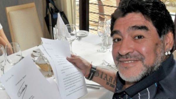 """I am strong, they are not going to break me,"" said Maradona."
