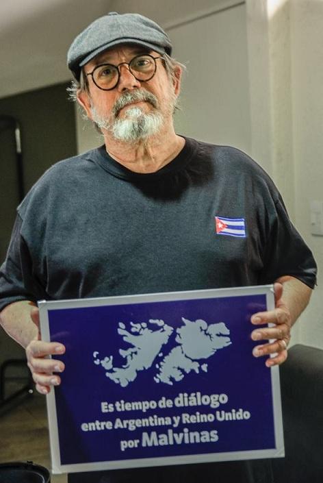 El máximo representante de la trova cubana, Silvio Rodríguez, también alzó su voz pidiendo el Diálogo por las Malvinas.
