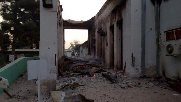 Wreckage of the Doctors Without Borders hospital in Kunduz, Afghanistan, struck by U.S. airstrikes on Oct. 3, 2015.