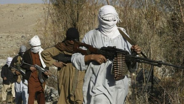Taliban fighters pose with weapons in an undisclosed location in Nangarhar province in this December 13, 2010, picture.
