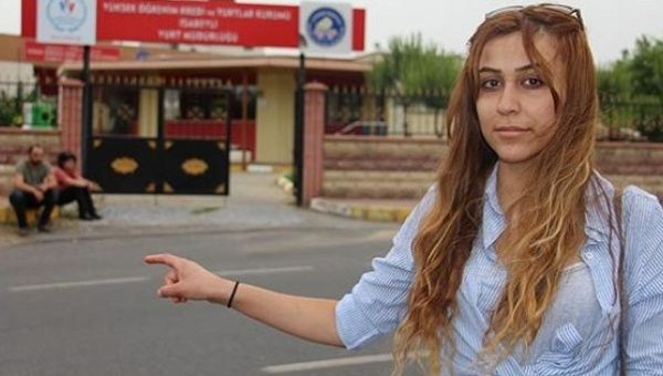 Pinar Cetinkaya was not allowed to return to her dorm because she was accused of being a suicide bomber.